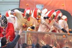 Carnevale d' ivrea Royalty Free Stock Photos
