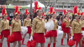 Carnevale del Cipro stock footage