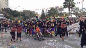 Carnevale del Cipro video d archivio