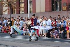 Carnevale del fiore di Debrecen immagini stock libere da diritti