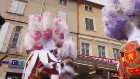Carnevale del mondo in Francia video d archivio