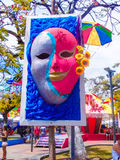 Carnevale della decorazione mascherato Immagini Stock