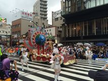 Carnevale di Asakusa Fotografie Stock Libere da Diritti
