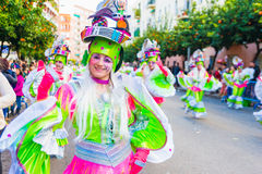 Carnevale di Badajoz Fotografie Stock Libere da Diritti