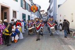Carnevale 2017 di Basilea immagini stock libere da diritti