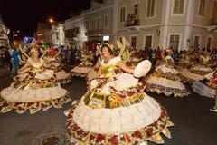 Carnevale di estate in Mindelo, Capo Verde Immagini Stock Libere da Diritti