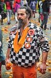 Carnevale di Ivrea La battaglia delle arance Fotografie Stock Libere da Diritti