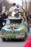 Carnevale di Mohacsi Busojaras Fotografia Stock