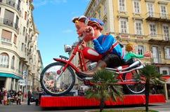 Carnevale di Nizza il 21 febbraio 2012, la Francia Immagini Stock Libere da Diritti