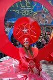 Carnevale di Nizza il 21 febbraio 2012, la Francia Fotografia Stock Libera da Diritti