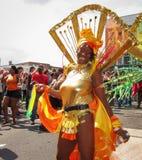 Carnevale di Notting Hill nel ballare di signora di Londra sexy Fotografia Stock Libera da Diritti