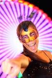 Carnevale di Santa Cruz de Tenerife: donna in costume Fotografia Stock