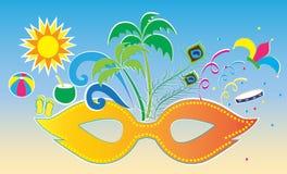 Carnevale e spiaggia Fotografia Stock Libera da Diritti