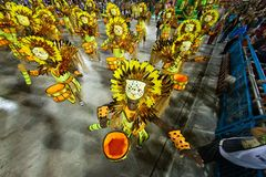 Carnevale 2019 - Estacio de Sa fotografia stock