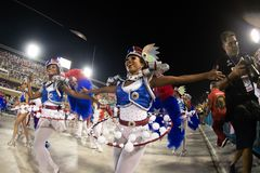 Carnevale 2019 - Estacio de Sa fotografie stock