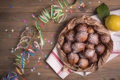 Carnevale frit de castagnole photographie stock