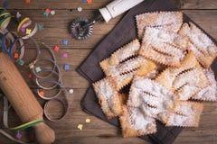 Carnevale frito del chiacchiere Imágenes de archivo libres de regalías