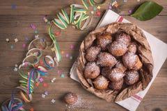 Carnevale fritto del castagnole immagine stock