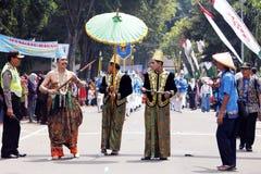 Carnevale indonesiano della cultura Fotografie Stock Libere da Diritti
