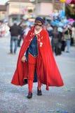 Carnevale in Italia. Un uomo vestito in rosso stock photo