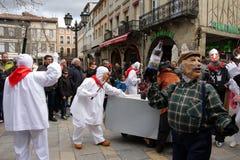 Carnevale in Limoux Fotografia Stock