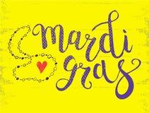 Carnevale Mardi Gras Brush Pen Sign Mardi Gras Calligraphic illustrazione di stock