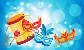Carnevale Rio Holiday Party Celebration variopinto del Brasile Immagini Stock