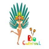 Carnevale Rio Holiday Party Celebration variopinto del Brasile Immagine Stock Libera da Diritti
