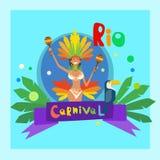 Carnevale Rio Holiday Party Celebration variopinto del Brasile Fotografia Stock