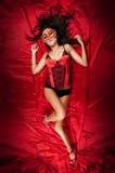 Carnevale rosso sexy Fotografia Stock