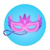 Carnevale variopinto Rio Holiday Party Celebration del Brasile dell'icona della maschera Fotografia Stock