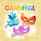 Carnevale variopinto Rio Holiday Party Celebration del Brasile della maschera Fotografia Stock