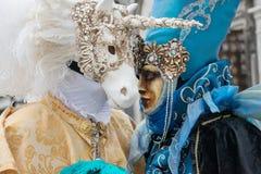 Carnevale a Venezia L'Italia Immagini Stock Libere da Diritti