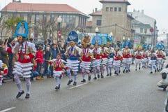 Carnevale in Verin Spagna Immagini Stock