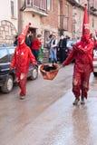 CARNEVALE IN VEVCANI, MACEDONIA Fotografia Stock Libera da Diritti
