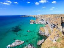 Carnewas klippor Cornwall England Royaltyfri Foto