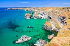 Carnewas klippor Cornwall England Arkivbilder
