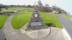 Carnfunnock Park Co Antrim Northern Ireland. Carnfunnock Park Cairndhu golf club larne Co Antrim Northern Ireland royalty free stock photo