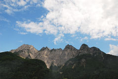 Carnic Alps Near Paularo Royalty Free Stock Photos