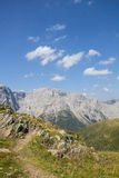 Carnic Alps View From Geo Trail Wolayersee In Lesachtal Carinthia Austria Royalty Free Stock Photography