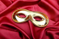 Carnical mask on satin Royalty Free Stock Photos