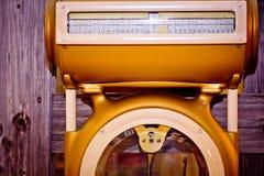Carniceiro antiquado Weight Sc de Commerical do vintage Imagens de Stock
