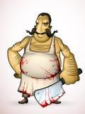 Carniceiro com um machado à disposição Fotografia de Stock Royalty Free