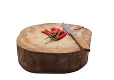 Carniceiro cortado e pimentão Fotos de Stock Royalty Free