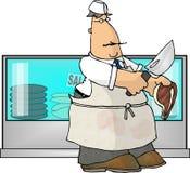 Carniceiro da vizinhança ilustração do vetor