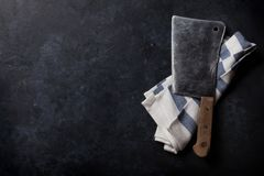 carniceiro Faca da carne do vintage foto de stock