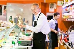 Carniceiros no trabalho Foto de Stock Royalty Free