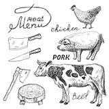 Carnicería Ilustración del Vector