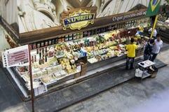 Carnicería en el sao Paulo Central Market Imagen de archivo