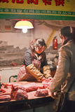 Carnicería provisional interior, Pekín, China Fotos de archivo